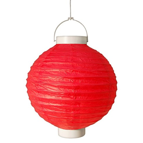 3ct Red Battery Operated Paper Lantern - image 1 of 3