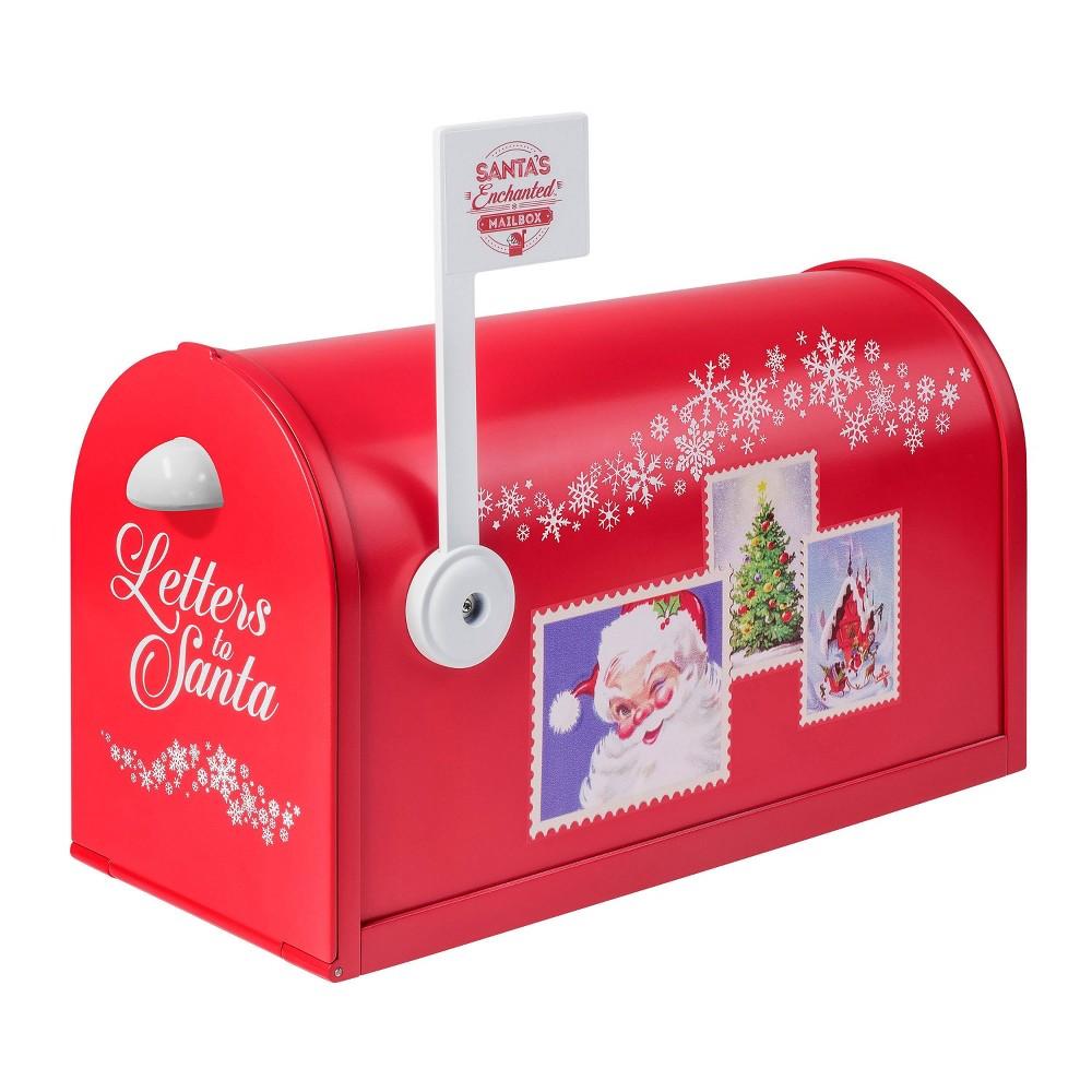 Image of Mr. Christmas Santa's Enchanted Mailbox Figurine