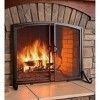 Plow & Hearth - Arched Top Flat Guard Fireplace Fire Screen with Doors - image 2 of 3