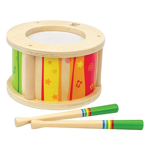 Hape Little Drummer Kid's Wooden Play Beat Drum Instrument Music Set with Playing Sticks for Toddlers Ages 3 and Up - image 1 of 4