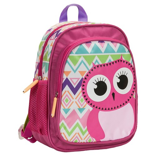 Rockland 12.5 Junior My First Backpack - Owl, Pink