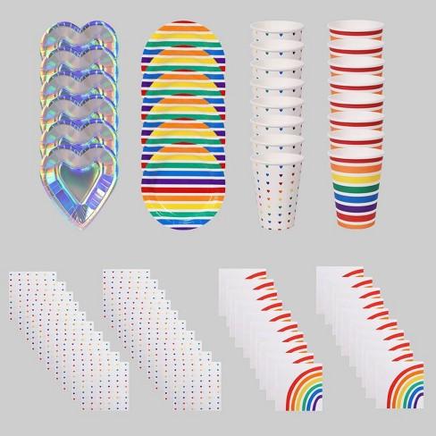 8pk 68pc Pride Paper Plates, Cups & Napkins - Bullseye's Playground™ - image 1 of 1