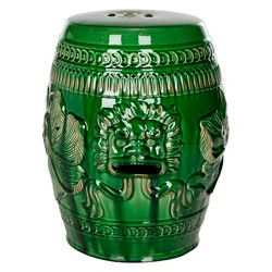 Chinese Dragon Stool - Green - Safavieh