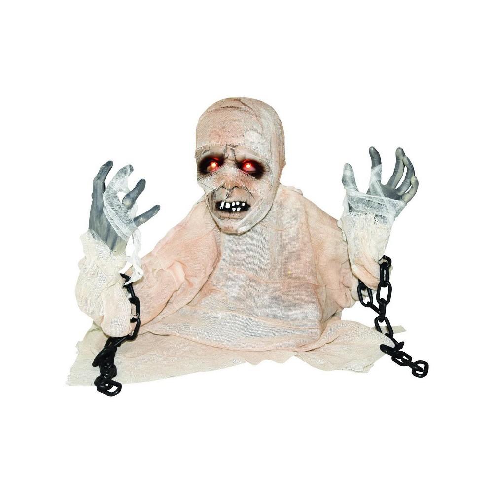 Halloween Animated Groundbreaker Mummy with Lights & Sound, White