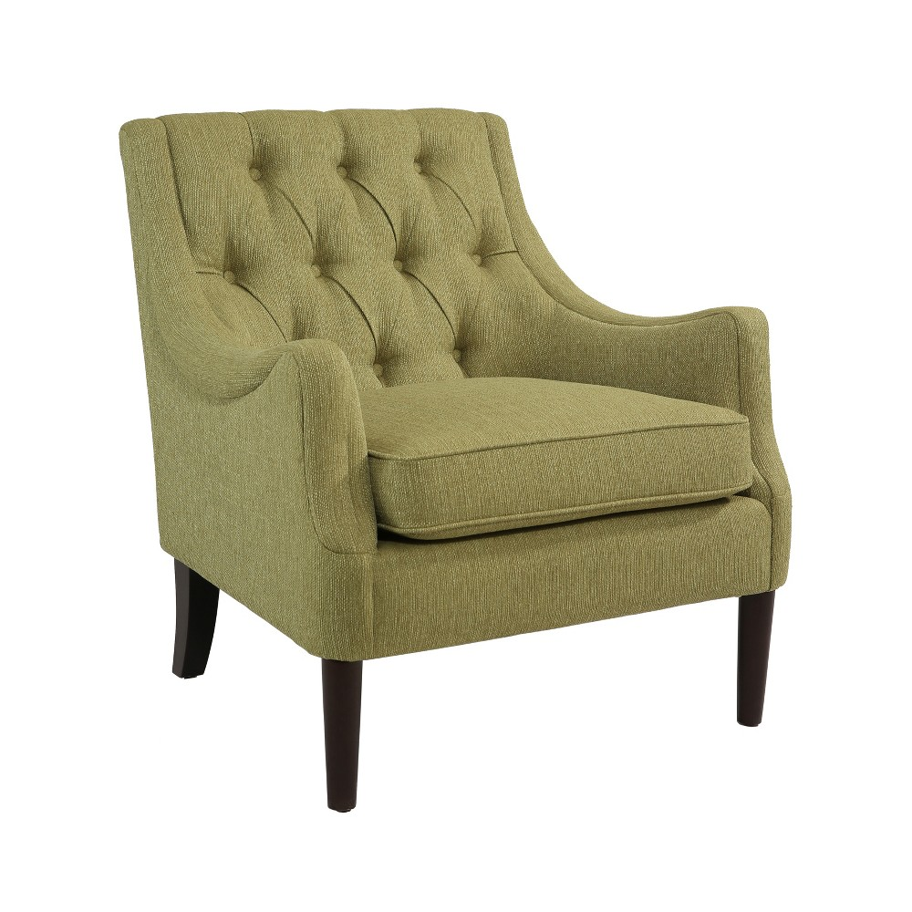 Image of 30 Barry Mid Century Lime Accent Chair - Green - Abbyson