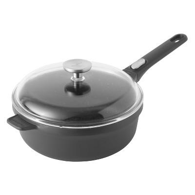 """BergHOFF GEM  10"""" Non-Stick Covered Saute Pan 3.4 Qt, Black"""