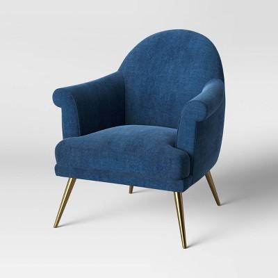 Myna Tufted Armchair With Brass Legs - Opalhouse™ : Target