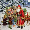 "Christmas 12.0"" Santas Forest Sleigh Advent Calendar Victorian  -  Advent Calendar - image 3 of 3"