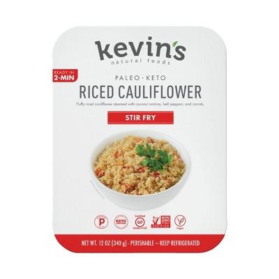 Kevin's Natural Foods Vegan Gluten Free Riced Cauliflower Stir Fry - 12oz