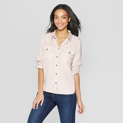 Women's Long Sleeve Collared Button-Down Shirt - Universal Thread™