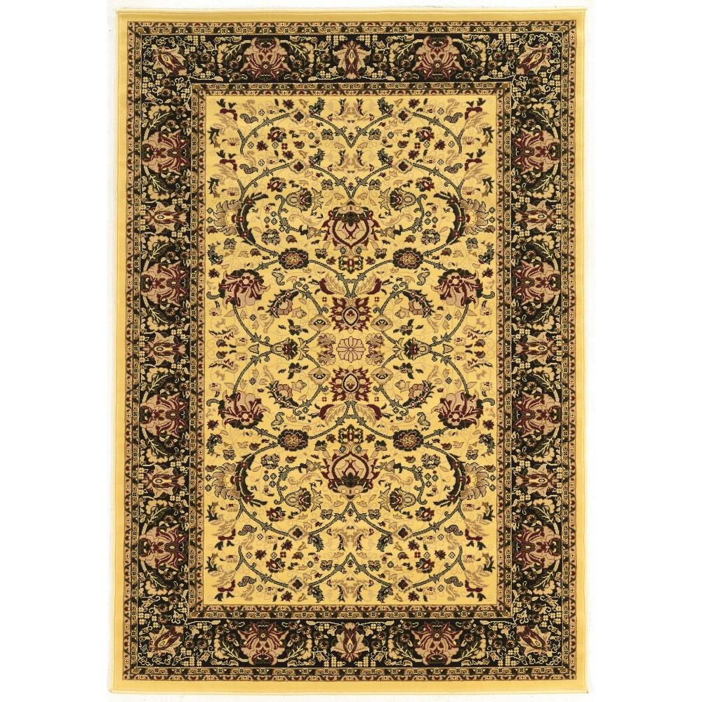 5 39 X7 39 6 34 Persian Treasures Nain Rug Off White Black Linon