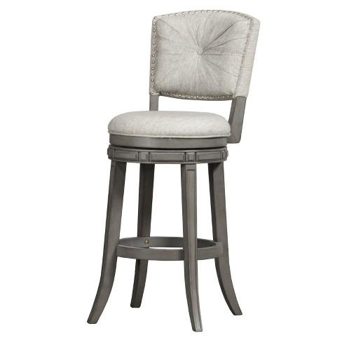 30 Santa Clara Swivel Bar Stool Gray Ash Hillsdale Furniture Target