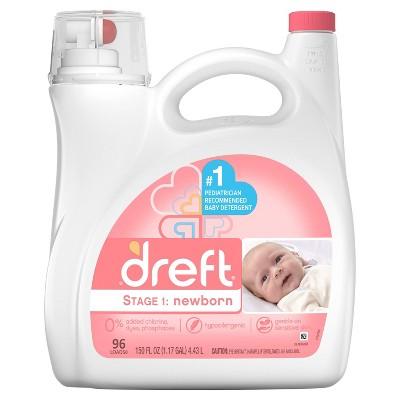 Dreft Stage 1: Newborn Baby Liquid Laundry Detergent - 138 fl oz