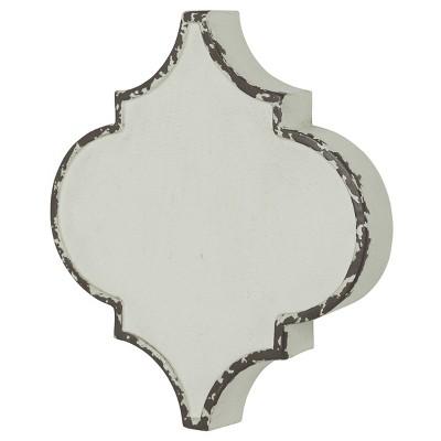 Metal Quatrefoil Wall Decor White - StyleCraft