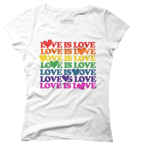 Love is Love Juniors Graphic T-Shirt - Design By Humans - image 1 of 3