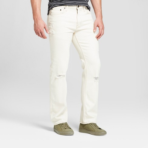 Men's Straight Fit Jeans with Coolmax - Goodfellow & Co™ Off-White - image 1 of 3
