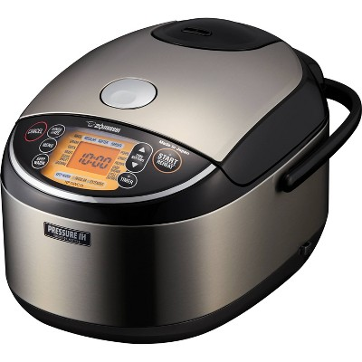 Zojirushi NP-NWC18XB Pressure Induction Heating Rice Cooker & Warmer 10 Cup (Uncooked)
