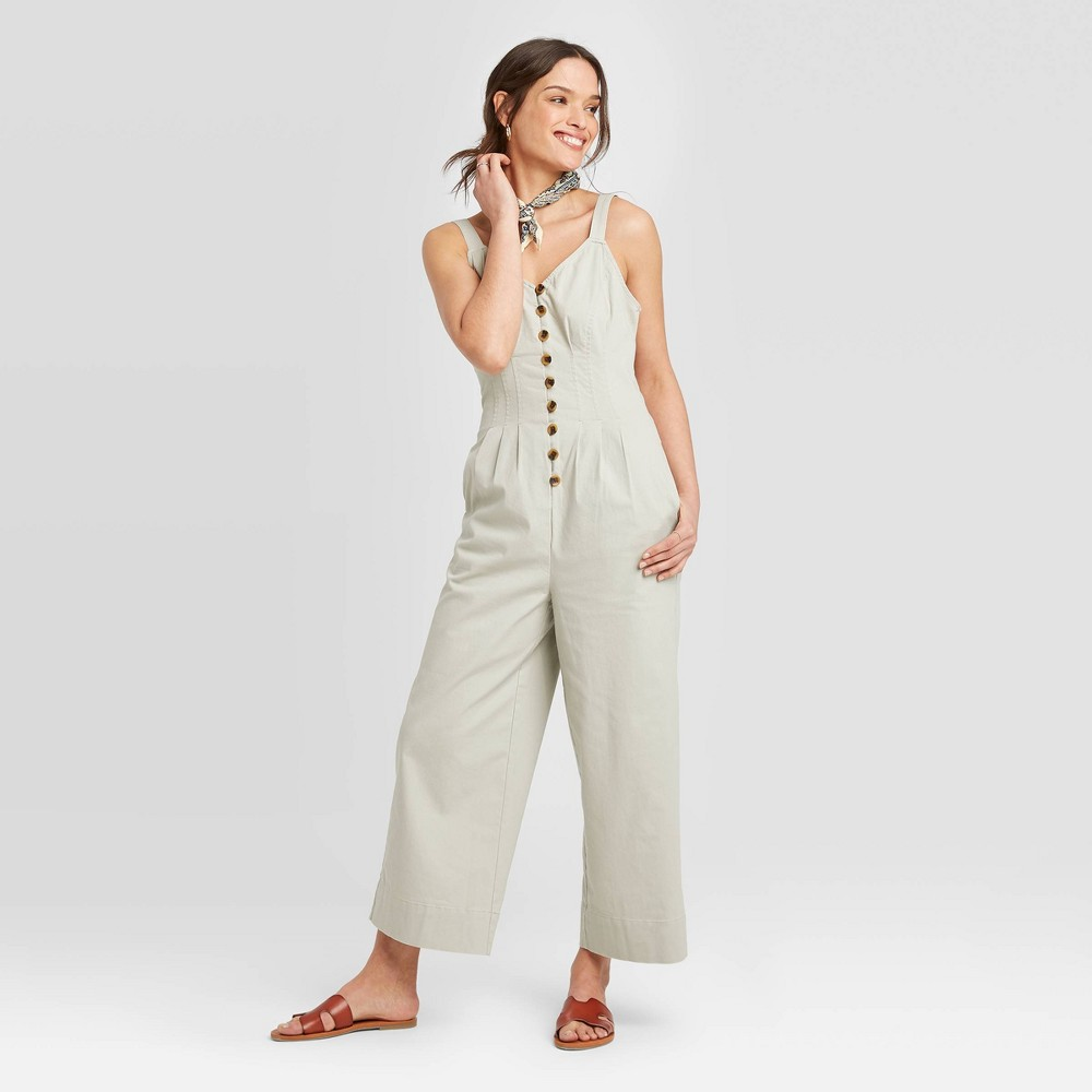 Women's Mid-Rise Sleeveless Ankle length Straight Leg Jumpsuit - Universal Thread Gray 6 was $29.99 now $20.99 (30.0% off)