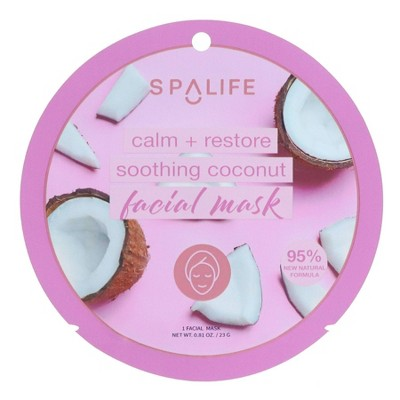 SpaLife Soothing Face Mask Coconut - 0.81oz