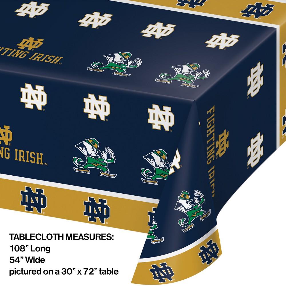 Image of Notre Dame Fighting Irish Plastic Tablecloth