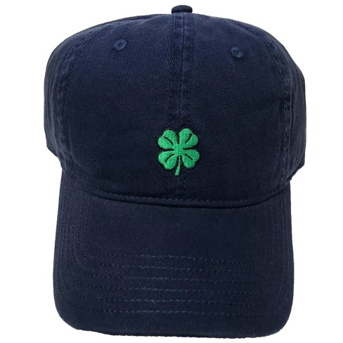 Four Leaf Clover Men s Dad Baseball Hat - Navy One Size   Target d2cf09ba55ea