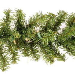 Philips 18ft Christmas Prelit Artificial Pine Garland Clear