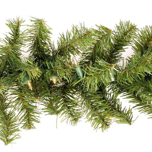 Christmas Pine Garland.Philips 18ft Christmas Prelit Artificial Pine Garland Clear