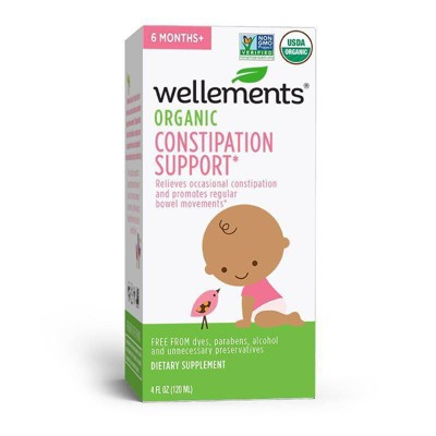 Wellements Organic Constipation Support - 4 fl oz