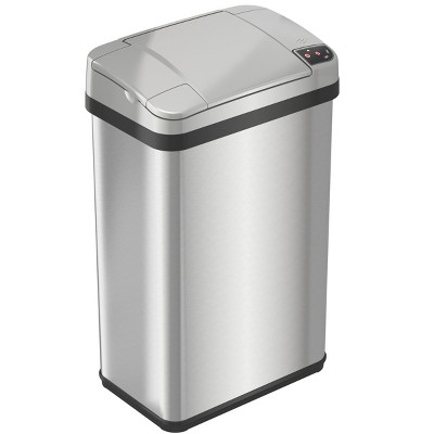 iTouchless Sensor Bathroom Trash Can with AbsorbX Odor Filter and Fragrance 4 Gallon Silver Stainless Steel