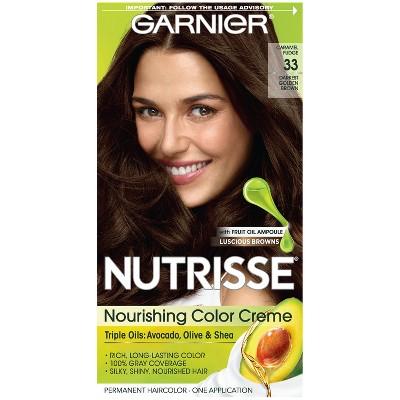 Garnier Nutrisse Nourishing Permanent Hair Color Creme Dark Brown Target