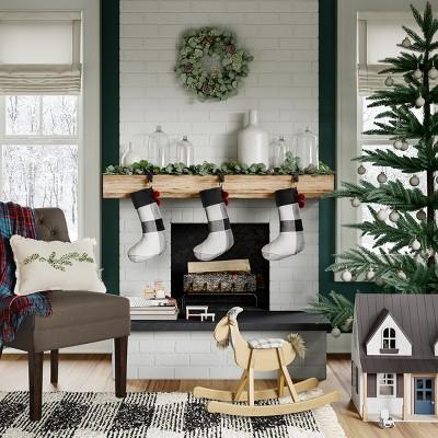 Farmhouse Holiday Living Room Decor Ideas Collection