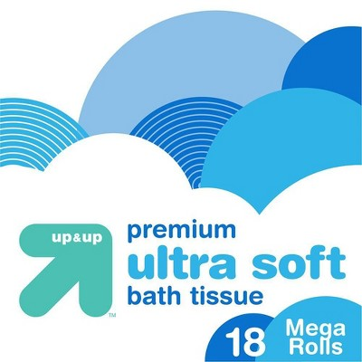 Premium Ultra Soft Toilet Paper - 18 Mega Rolls - up & up™