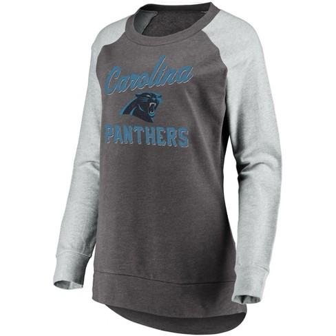 25284155f NFL Carolina Panthers Women s Brushed Tunic  Gray Crew Neck Fleece  Sweatshirt