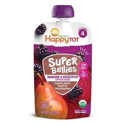 HappyTot Super Bellies Organic Pears Beets & Blackberries Baby Food Pouch - 4oz
