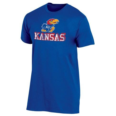 Kansas Jayhawks Men's Short Sleeve Keep the Lights On Bi-Blend Gray Heathered T-Shirt - image 1 of 1