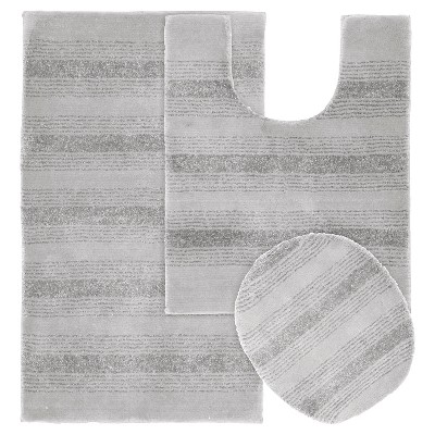 3pc Essence Washable Nylon Bath Rug Set - Garland
