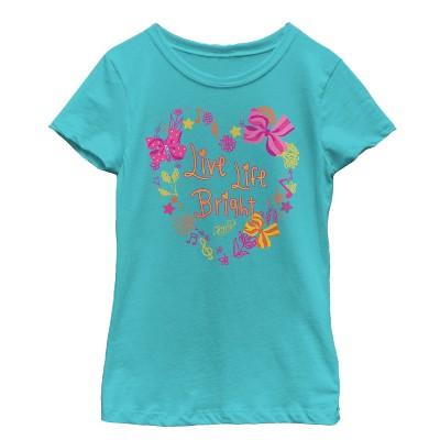 Girl's Jojo Siwa Live Life Bright Heart T-Shirt