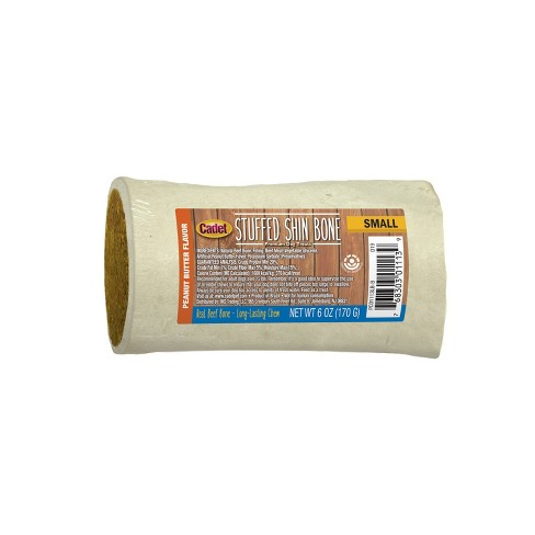 "Cadet Stuffed Shin Bone Peanut Butter Dog Treat - 3-4"" - image 1 of 4"