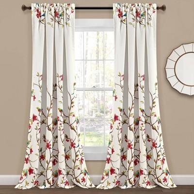 Set of 2 Neela Birds Room Darkening Window Curtain Panels - Lush Décor