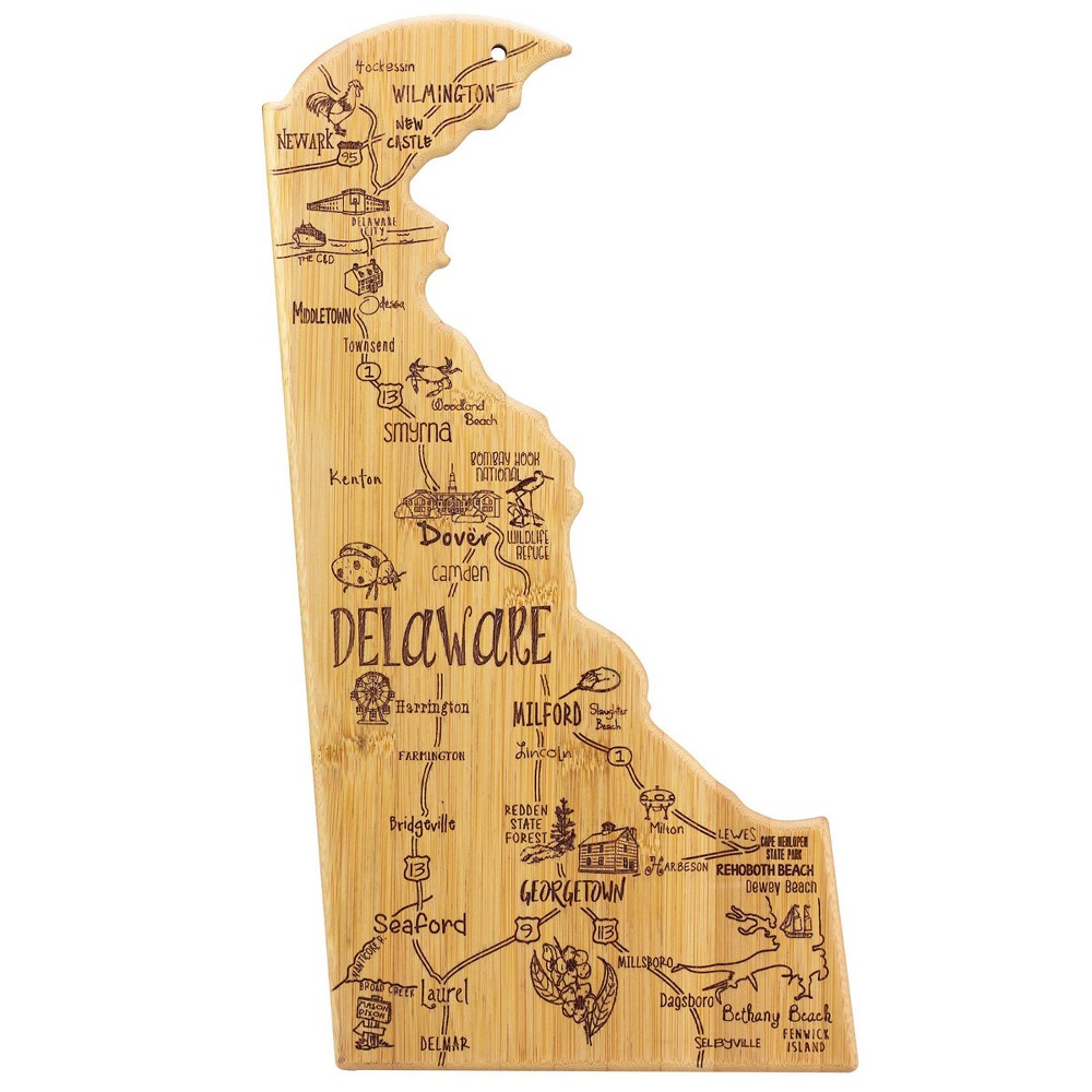 Totally Bamboo Destination Delaware Serving And Cutting Board