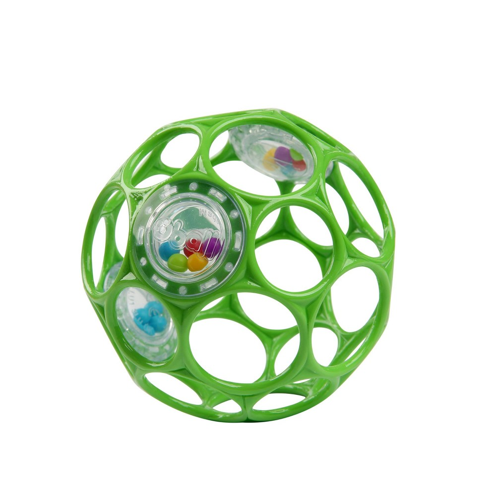 Image of Oball Toy Ball Rattle - Green