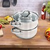 Oster Hali 3-Piece Stainless Steel Steamer Set With Lid - image 3 of 4