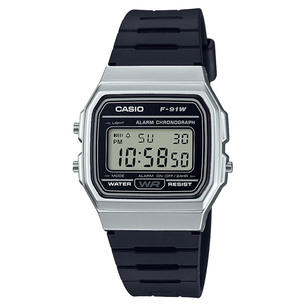Men's Casio F91WM-7A Digital Watch - Black/Silver