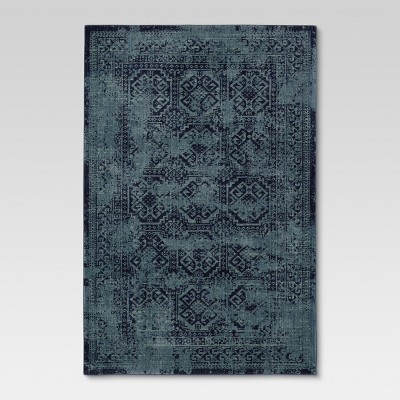 "24""x36"" Overdyed Accent Rug Turquoise - Threshold™"