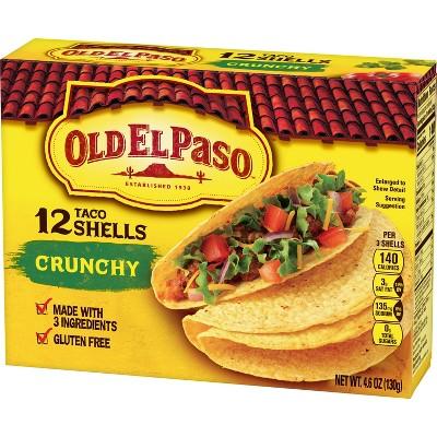 Old El Paso Gluten Free Crunchy Taco Shells - 12pk/4.6oz