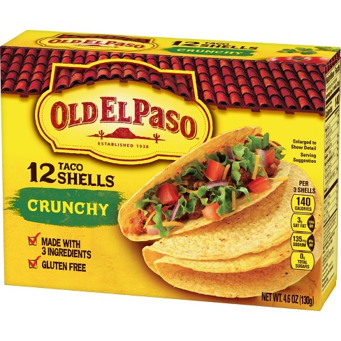 Old El Paso Gluten Free Crunchy Taco Shells 12pk 4 6oz Target