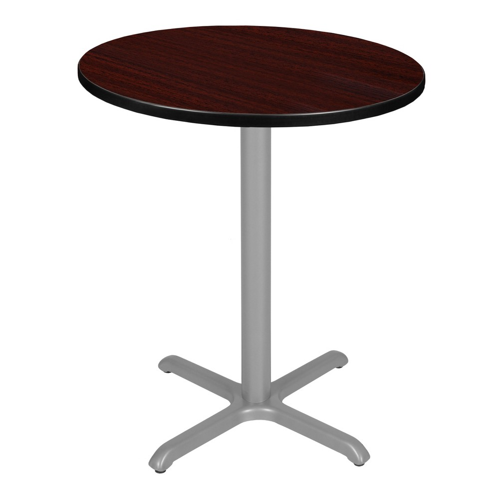 36 Via Cafe High Round X - Base Table Mahogany/Gray (Brown/Gray) - Regency