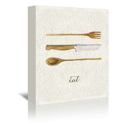 Americanflat Linen Kitchen Trio B by Samantha Ranlet Wrapped Canvas
