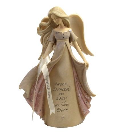 "Foundations 7.5"" 40Th Birthday Angel Danced Day Born  -  Decorative Figurines - image 1 of 3"