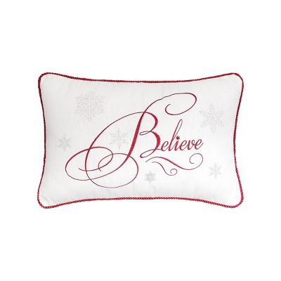 """C&F Home 14"""" x 22"""" Believe Embroidered Pillow"""